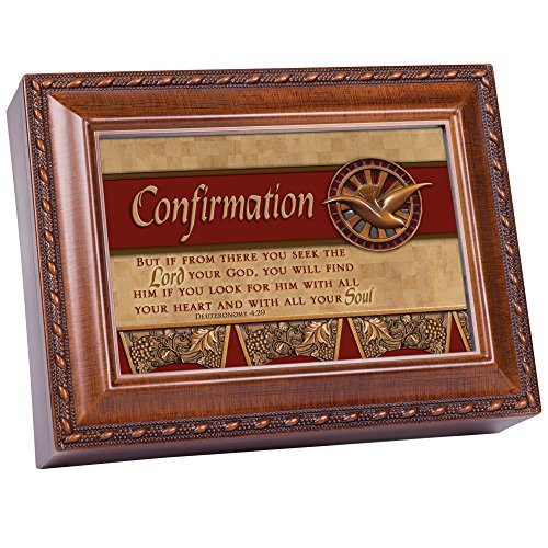 (Cottage Garden Confirmation Woodgrain Music Box/Jewelry Box Plays How Great Thou Art)