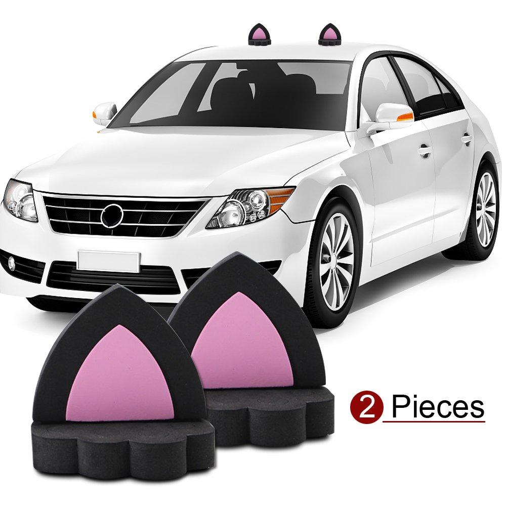 Amazon com ygmoner cat ears car roof refit styling eva foam 3d sticker black automotive
