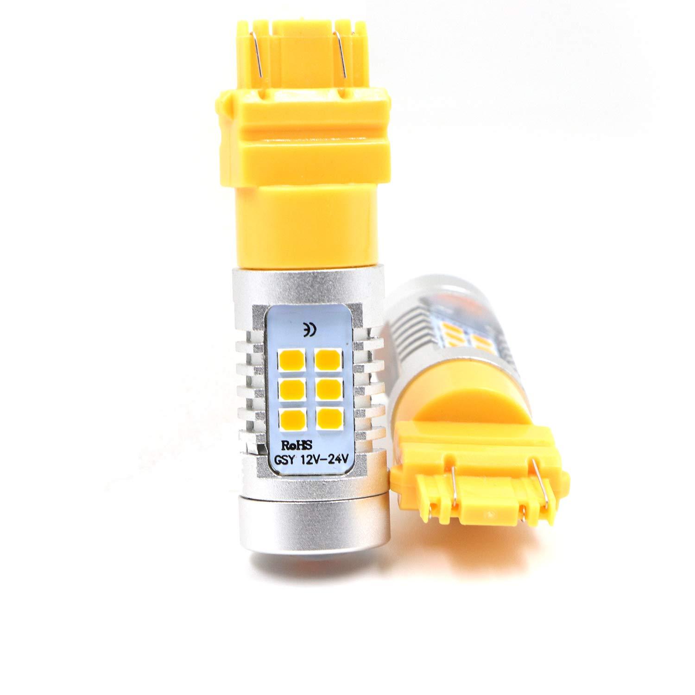 2pcs 3057 3156 3157 4057 4157 Turn Signal Light Amber Yellow LED Bulbs Lamp BestUSA