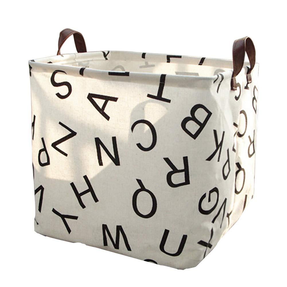 Giocattolo scatola portaoggetti in tessuto di lino cotone bambini giocattoli cesta contenitore per abiti trucchi e cosmetici borsa durevole per sala giochi per bambini, baby Clothing HOMYY