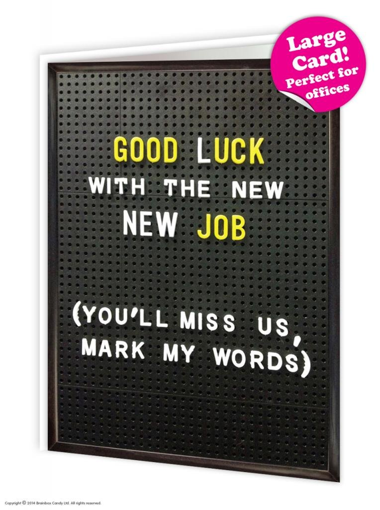 Funny humorous good luck new job large card 19 x 275cm amazon funny humorous good luck new job large card 19 x 275cm amazon office products m4hsunfo