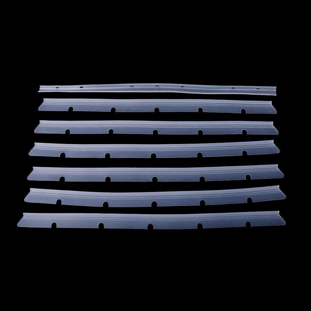GROOMY Repuestos Cuchillas Escobilla de Goma Juego de escobillas para Neato Botvac D70, D70E, D75, D80, D85, Accesorio para aspiradoras