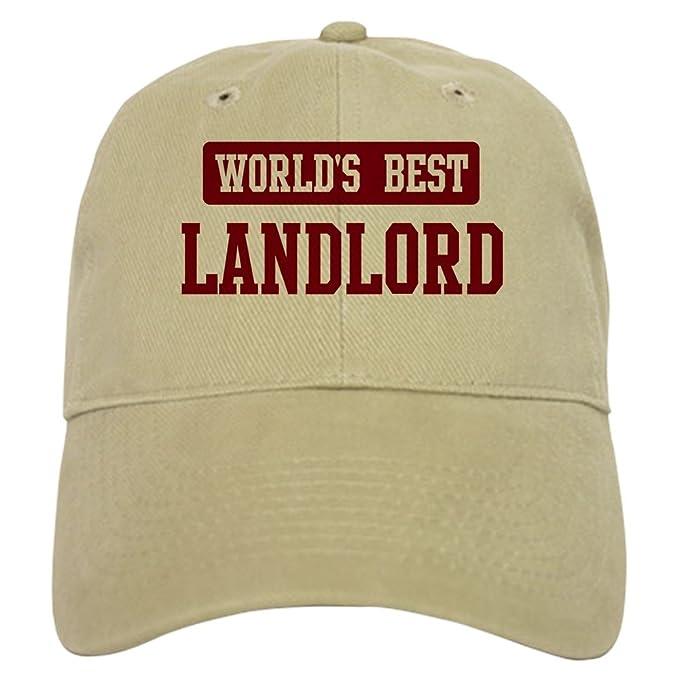 34d29f108df CafePress - Worlds Best Landlord - Baseball Cap with Adjustable Closure,  Unique Printed Baseball Hat