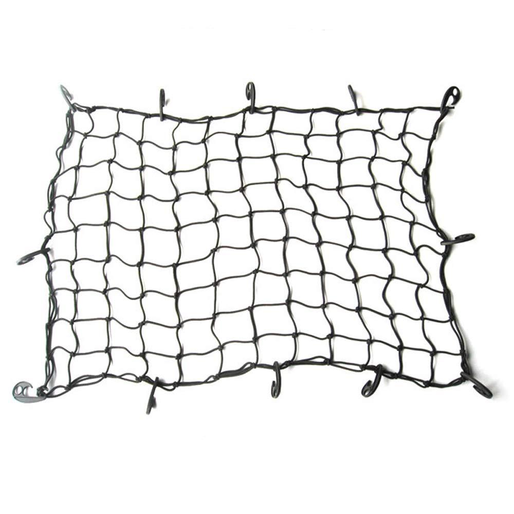 Zenshin Cargo Net Flexible en Nylon arri/ère Cargo Organisateur de Coffre de Voiture de Stockage Net Noir pour la Plupart des Types de Voitures,90x120cm