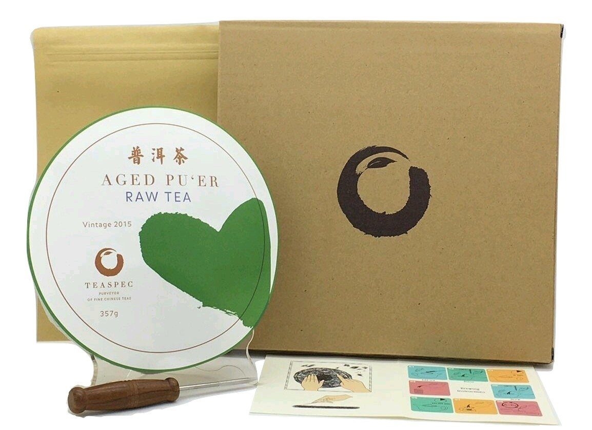 TEASPEC Pu'er Tea Cake Raw, Exotic Tea Grown in China by TEASPEC