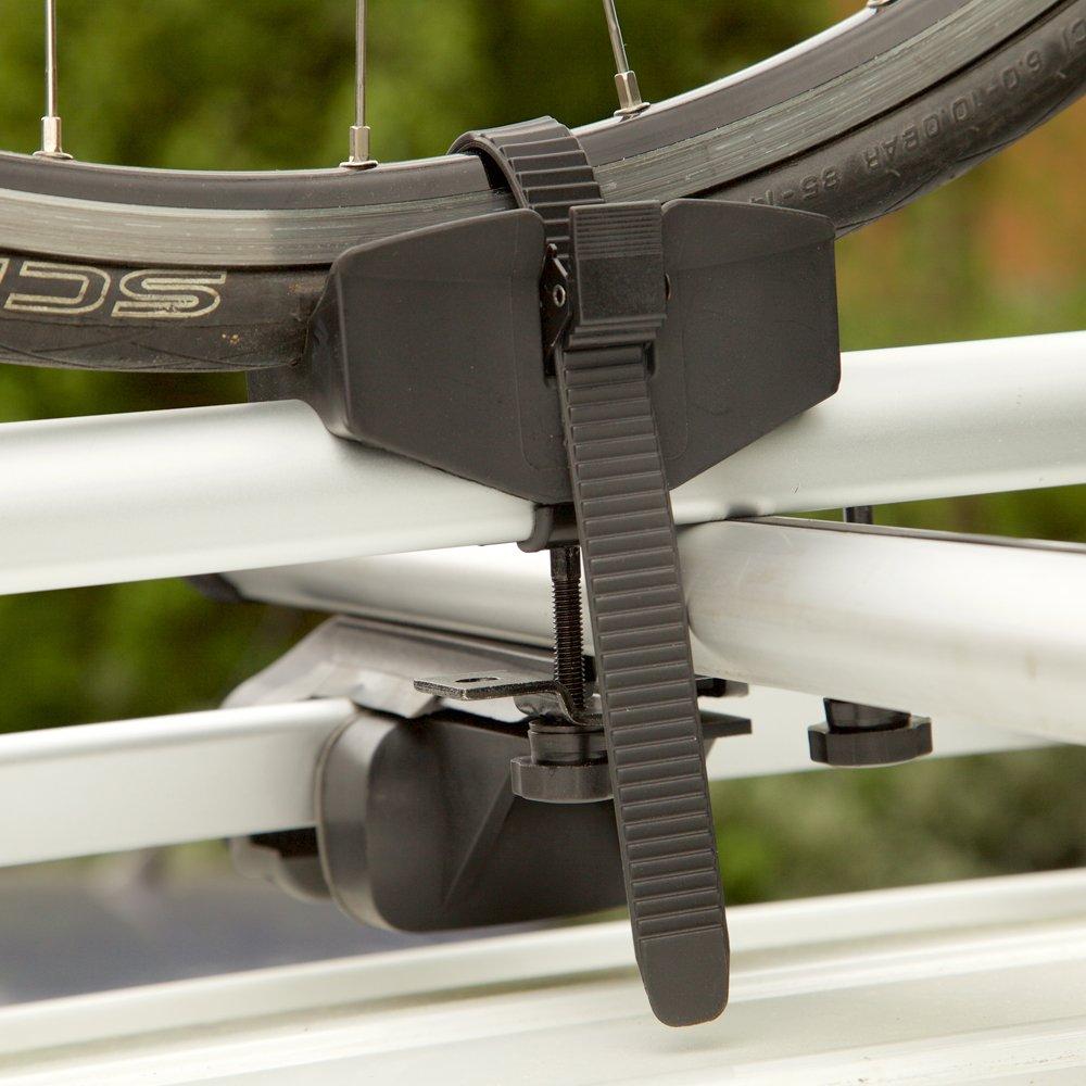 Auto Companion Portabicicletas para el techo del veh/ículo de aluminio con anclaje de horquilla