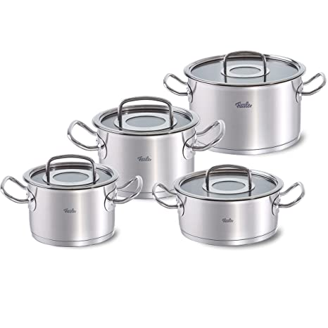 Fissler Original-Profi Collection Batería 4 Piezas, para Todo Tipo de cocinas, Acero Inoxidable 18/10