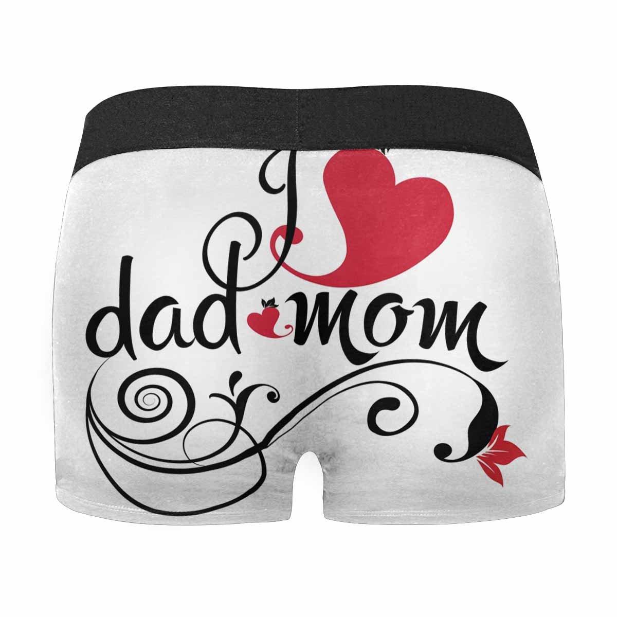 INTERESTPRINT Mens Boxer Briefs Underwear I Love Dad and Mom XS-3XL