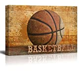 Wall26 - Rustic Basketball - Vintage Hoops Wood Grain - Canvas Art Home Decor - 12x18 inches