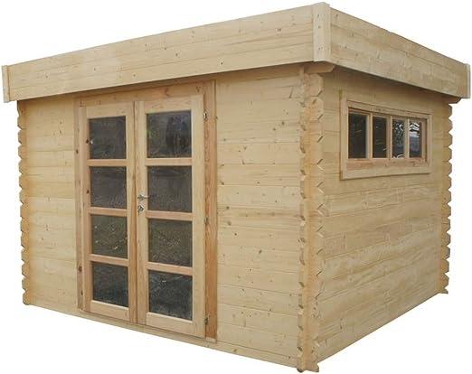 Chalet & Jardin – Caseta de madera tejado plano translúcido – 8 M2 -28 mm: Amazon.es: Jardín