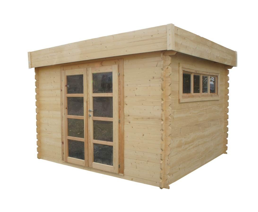 Chalet & Jardin - Caseta de madera tejado plano translúcido - 8 M2 -28 mm: Amazon.es: Jardín