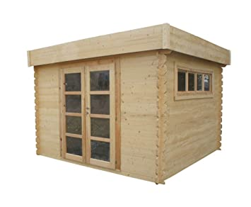 Chalet & Jardin – Caseta de madera tejado plano translúcido – 8 ...