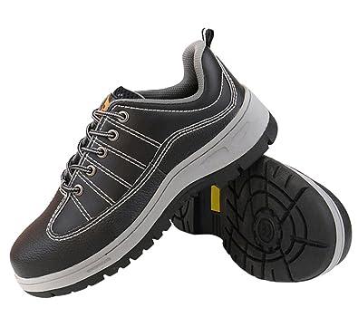 Calzado Zapatos Zapatillas De Seguridad para Hombre Trabajo con Tapa Acero Industria Deportiva Antideslizante: Amazon.es: Zapatos y complementos
