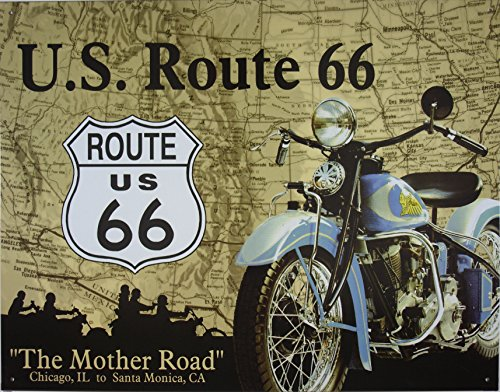 (Desperate Enterprises Route 66 - The Mother Road Collectible Metal Sign, 16x13)