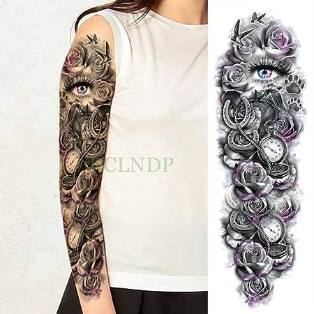 Etiqueta engomada impermeable del brazo completo del tatuaje ...
