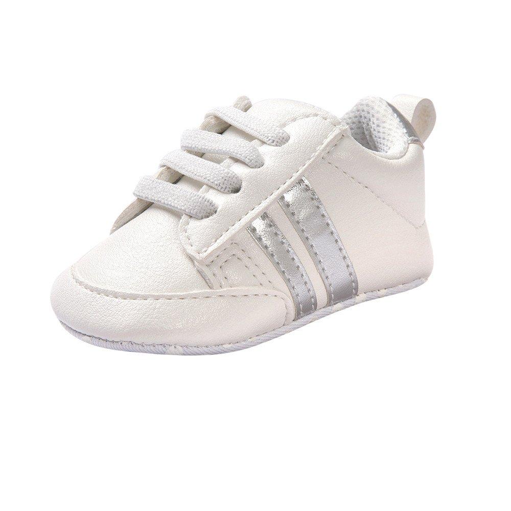 Fossen Zapatos de bebé calzado deportivo de cuero antideslizante inferior suave para niños pequeños infantiles Primeros pasos