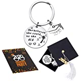 Sannyra 2020 Graduation Keychain Gifts Inspirational Key Ring with Graduation Cap Box and Card for College Senior Graduate