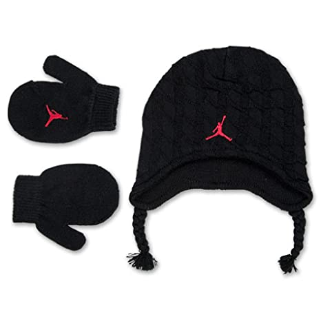 8ee35a1189d Image Unavailable. Image not available for. Color  Nike Jordan Baby Boy s  Cable Knit Beanie Hat   Mittens Set