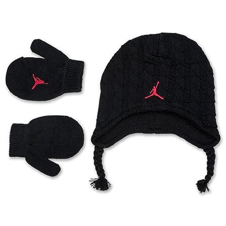 paquet à la mode et attrayant ramassé arrive Nike Jordan bébé garçon câble Bonnet en Tricot Bonnet et ...