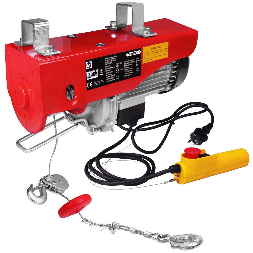 Treuil /électrique 200-400 kg avec c/âble en acier et bo/îtier de commande