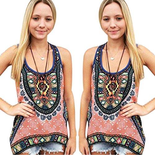 Gillberry Women Summer Vest Top Sleeveless Shirt Blouse Casual Tank Tops T-Shirt (XL)
