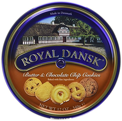 Royal Dansk Danish Butter and Chocolate Chip Cookies, 340 g, Pack of 6