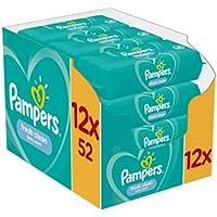 12x Pampers Billendoekjes Fresh Clean 52 doekjes