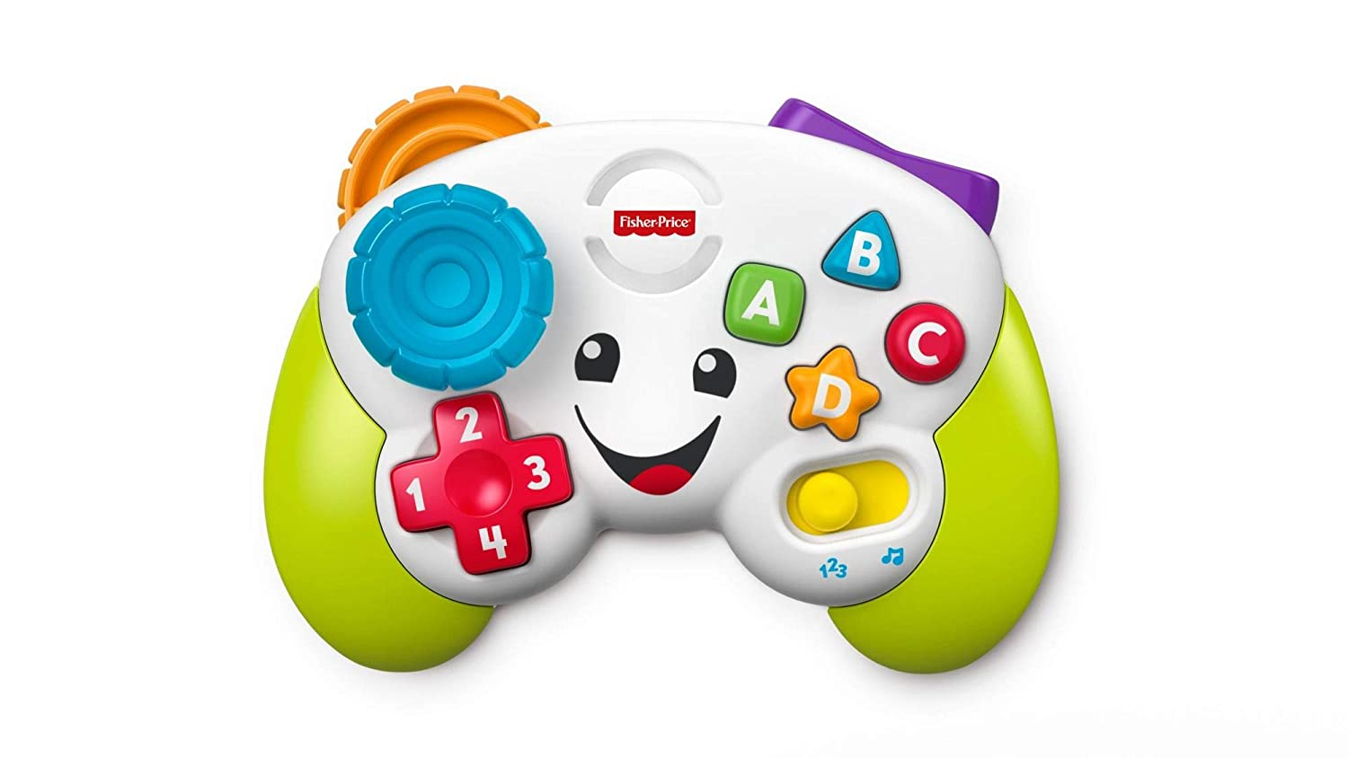 6 Months Mattel Fisher-Price FWG12 Game and Learn Controller Letters Numbers Teaching First Words Colours and Shapes with Songs and Sounds