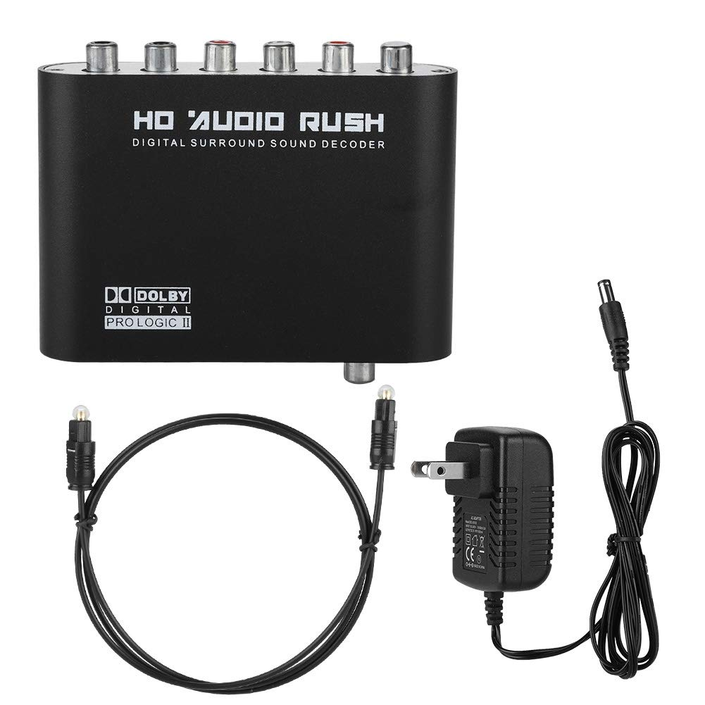 Hakeeta SNR Digital-to-Analog Audio Converter Suitable for Home Square. Output DTS//AC-3 Digital Signal Support Multi-Channel One-Button Switching School