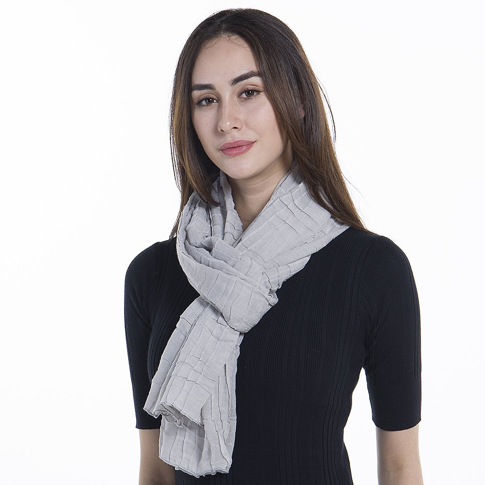 Light Weight Sheer Scarf - NiAiWei Women Extra Long Shawl Wrap for Winter, Solid Color Scarves by Niaiwei (Image #2)