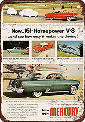1954 Mercury Vintage Look Reproduction Metal Tin Sign 8X12 Inches