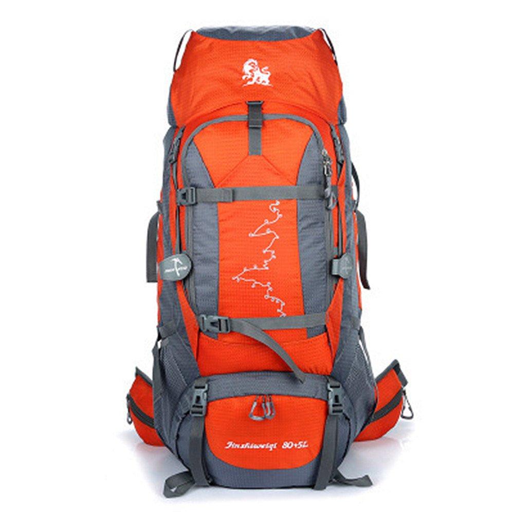 YHDD 登山用バックパック防水ナイロンリムーバブルピギーバックシューターウォーキング野生キャンプレジャースポーツニュートラルショルダー屋外用 (色 : Orange)  Orange B07Q18T4VF