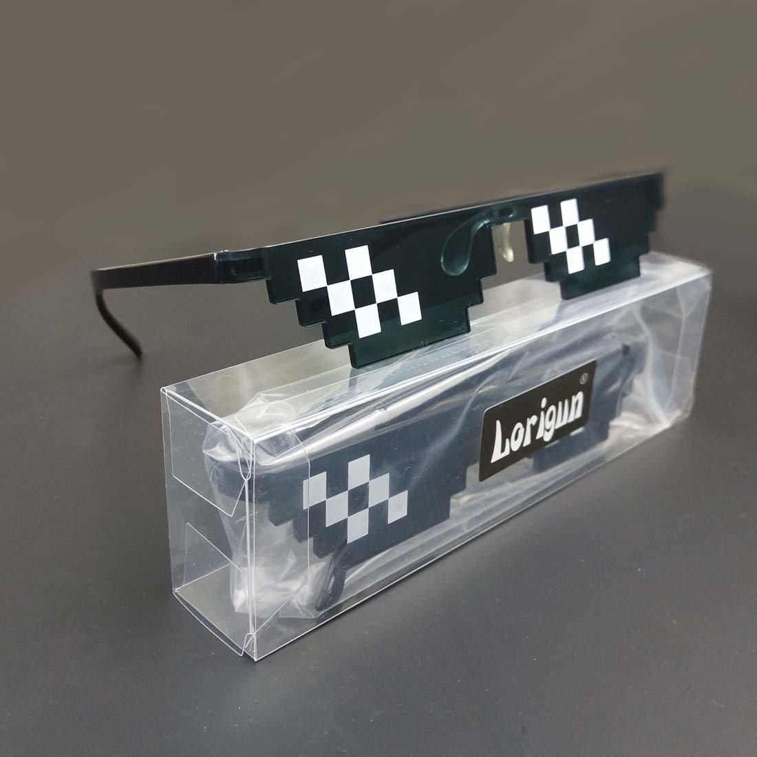 Lorigun Gafas de Sol Thug Life Gafas Pixeladas de Mosaico ...
