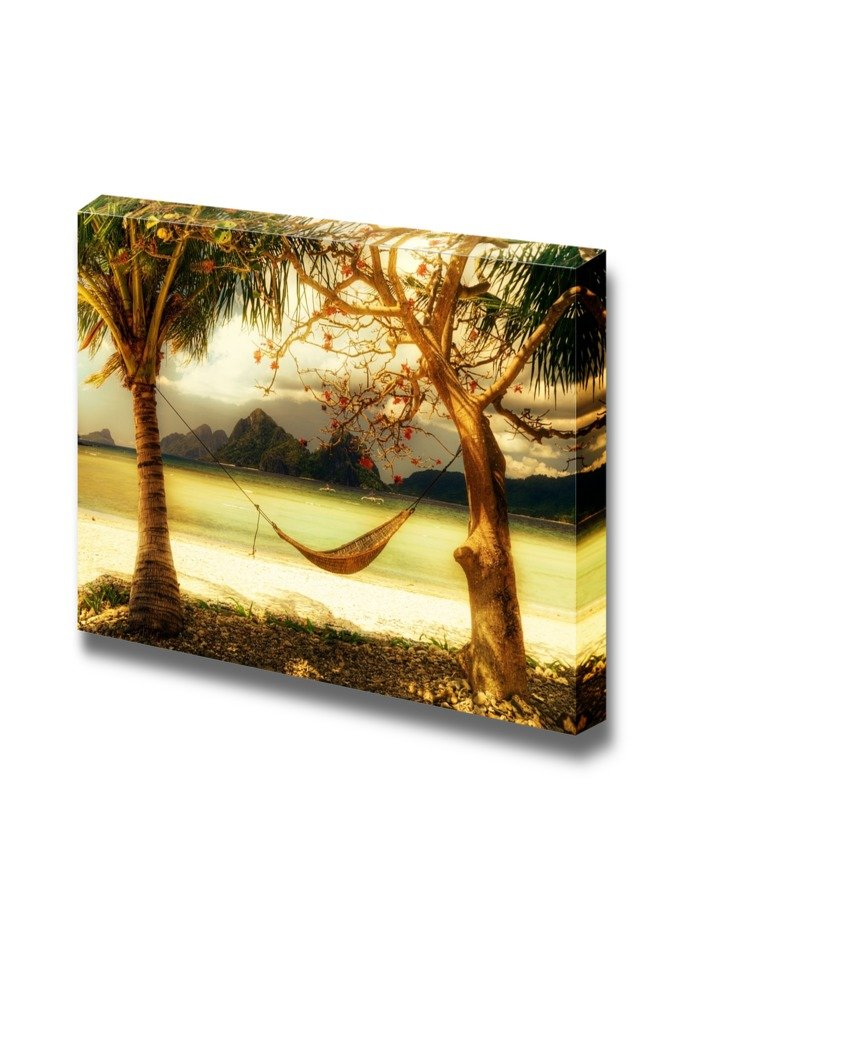 Tropical Relax Resort Coast Artistic Toned Picture Wall Decor ation ...