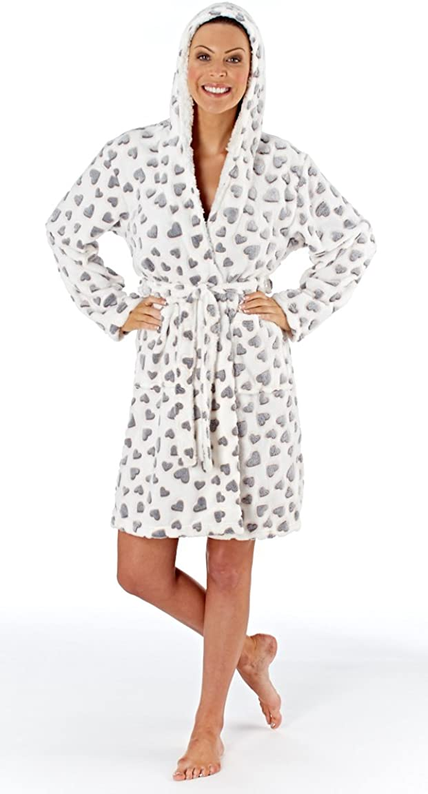 Selena Secrets Femme Canard Imprimé Robe Avec Bandeau /& pantoufle Nightwear Ensemble Cadeau
