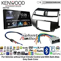 Volunteer Audio Kenwood DMX7704S Double Din Radio Install Kit with Apple CarPlay Android Auto Bluetooth Fits 2008-2012 Honda Accord (Dark Atlas Grey)