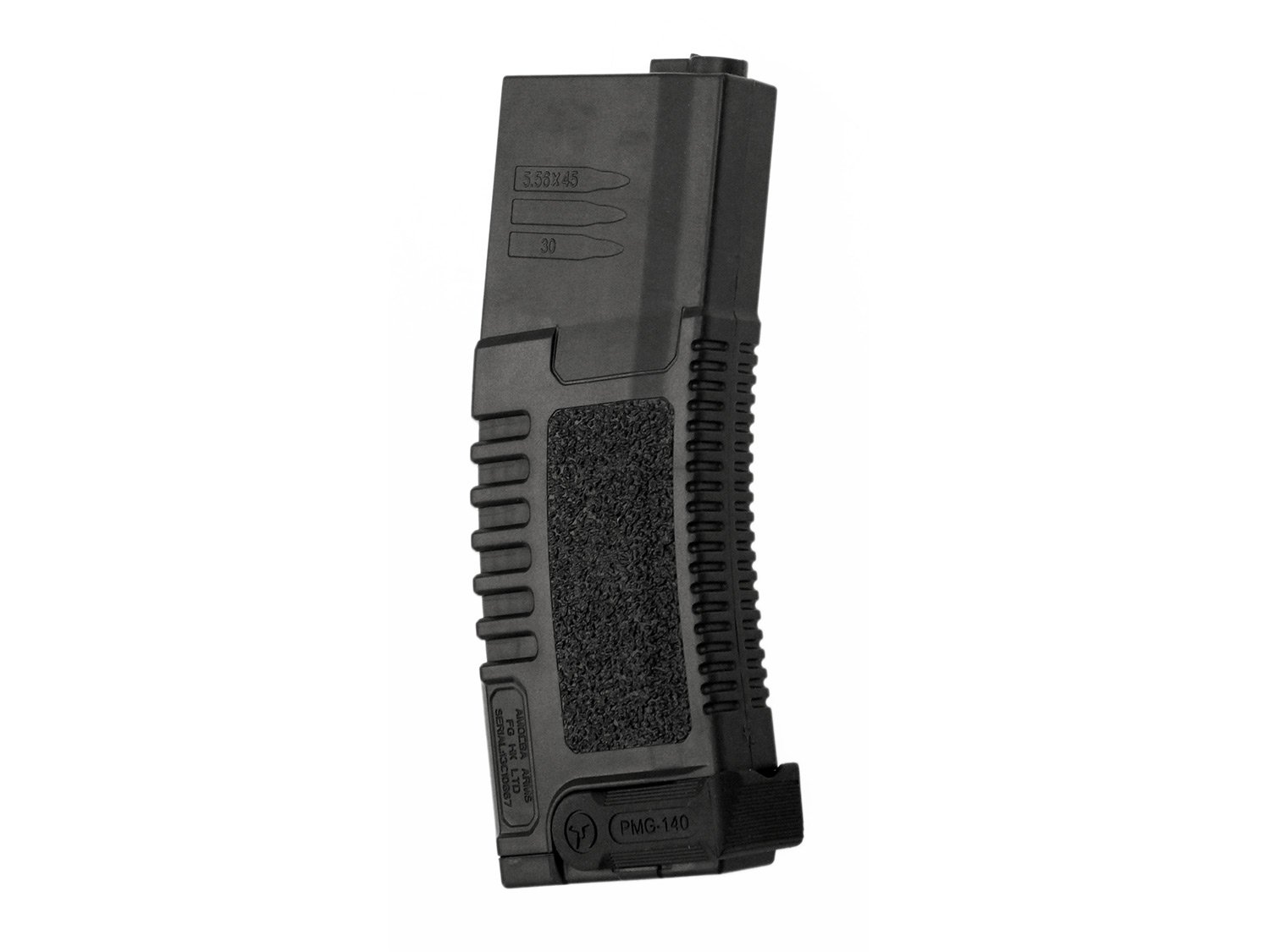 Ares Ameba Lectura / Airsoft MidCap Revista (140 BBs), con fold-out Magpull - negro