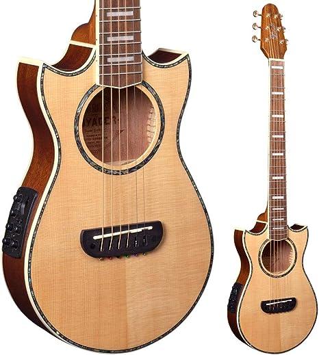 Guitarra de viaje Lindo Voyager SE, electroacústica, de abeto, con ...