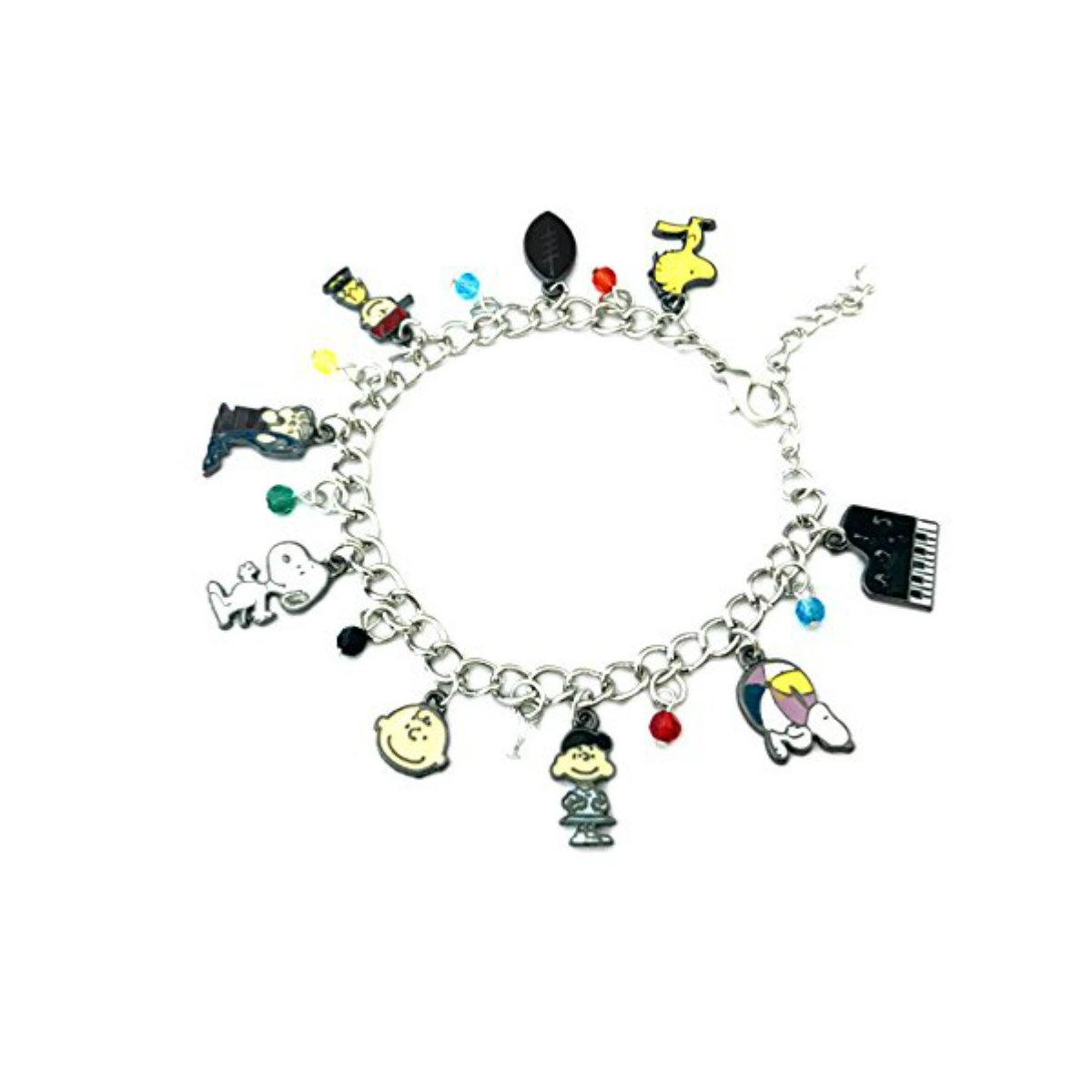 US FAMILY Peanuts Charlie Brown Movie Series Theme Multi Charms Jewelry Bracelets Charm by Family Brands