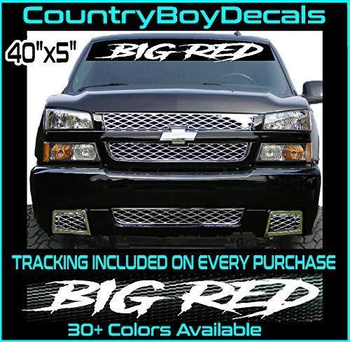 BIG RED Vinyl Decal 40 Windshield Sticker Diesel Truck JDM Car Lifted Turbo Mud