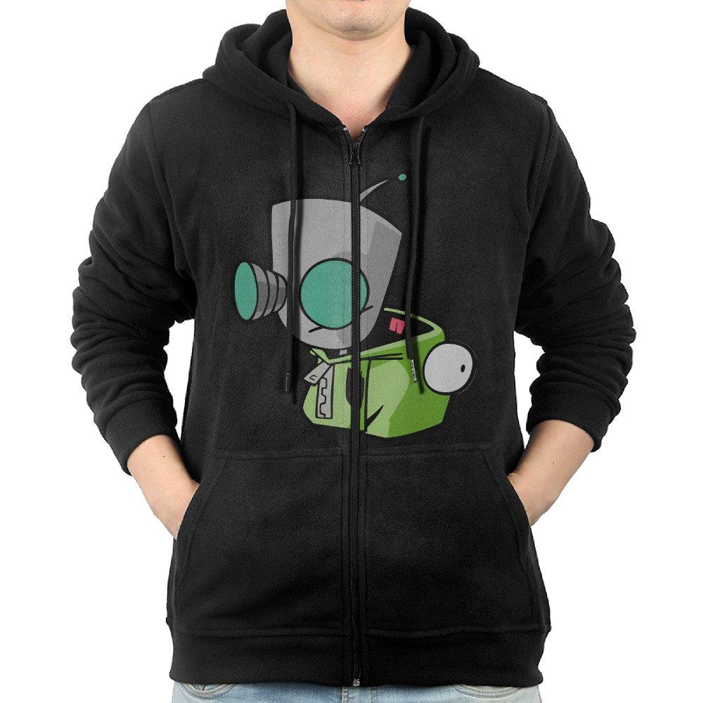 7737995f3 Hooded Sweatshirt Black Man Long Sleeve Invader Zim Gir S Doom Song ...