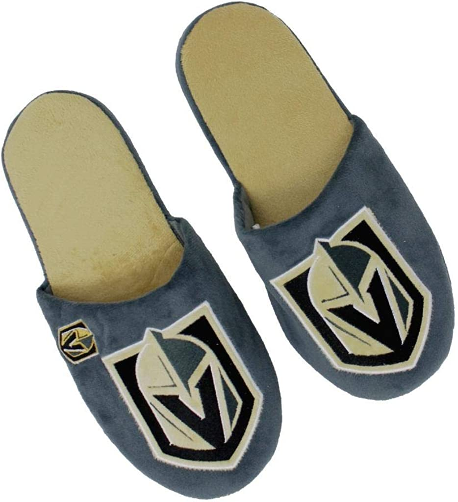 Forever Collectibles NHL Las Vegas Golden Knights Mens Slip On Slippers