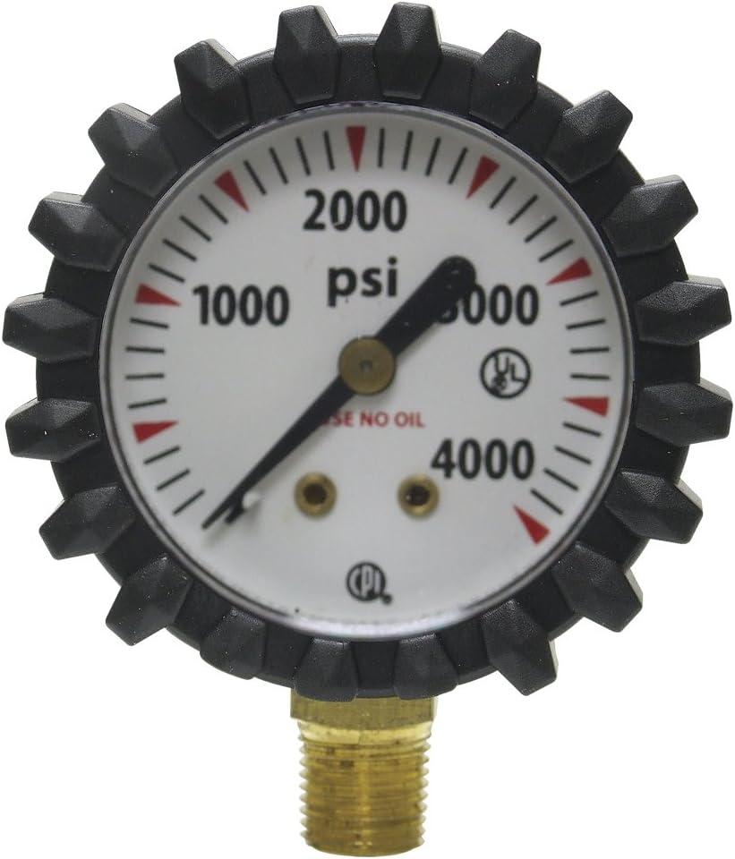 """G56d Oxygen Gauge 1.5/"""" Uniweld 4000psi"""