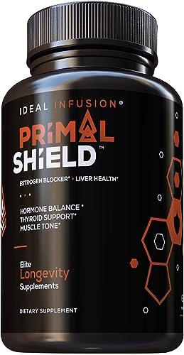 Estrogen Blocker for Men and Hormone Balance for Women DIM 300mg Supplement with Iodine – Lean Muscle Mass, Liver Detox, Thyroid Support 60 Servings Vegan
