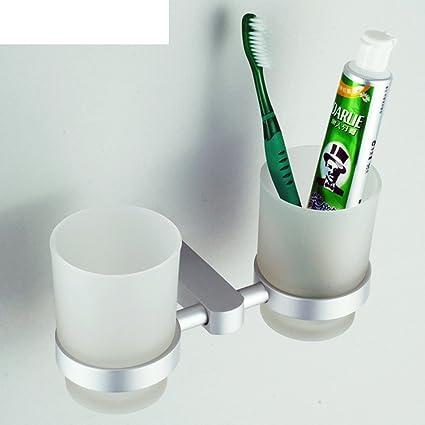 Aluminio cepillo de dientes titular traje espacial/portavasos diente/vaso