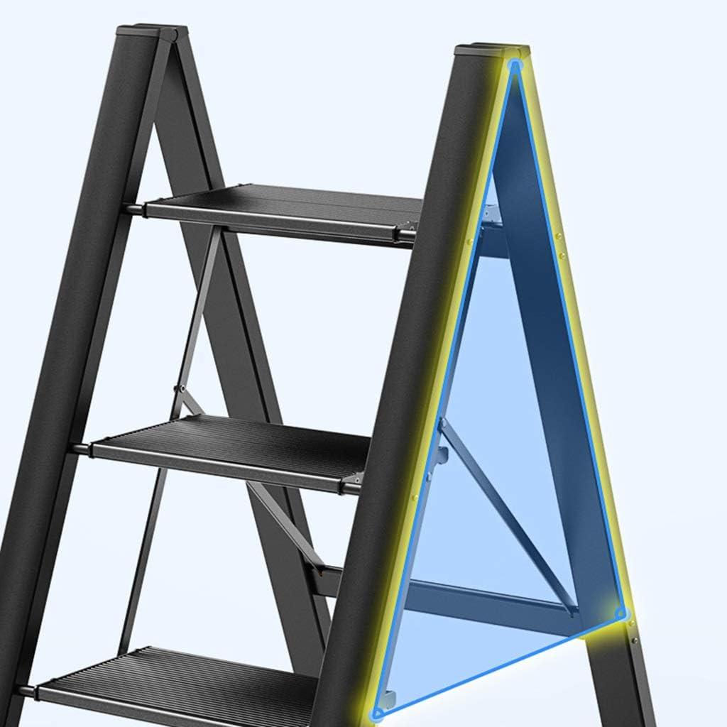 Leiter Leiter Haushaltsleiter Klappbare Fischgr/ätenleiter Multifunktionsleiter Teleskopleiter Hebe Treppe Tragbare Leiter Konstruktionsleiter Color : Gold, Size : 45.5 * 64 * 82cm