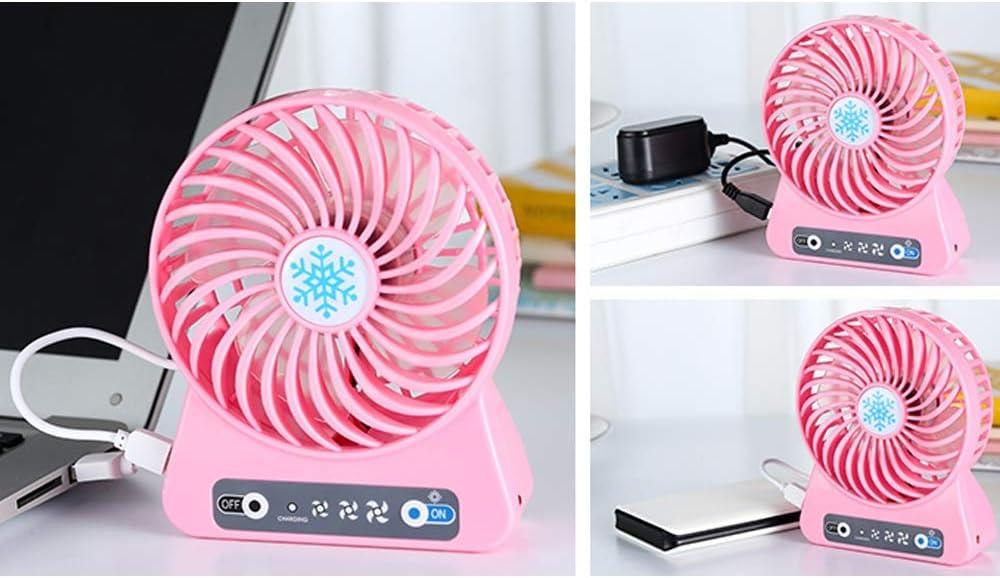 Jiu Si Mini Fan Rechargeable USB Mini Fan Handheld Creative Art Student Dormitory Portable 4.5w USB Fan Color : B