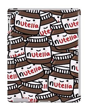 Cute Nutella Pattern Tumblr iPad Case - Plástico Duro, broche de presión en cubierta de
