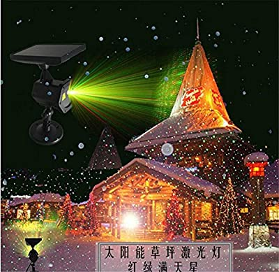 L&T STAR Solar Projection Light Waterproof Lights Show Halloween Christmas Birthday Valentine'S Day Easter Carnival