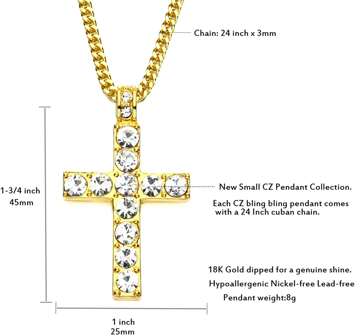 Sterling Silver 28mm Cross with 7.5 Charm Bracelet Jewels Obsession Cross Pendant